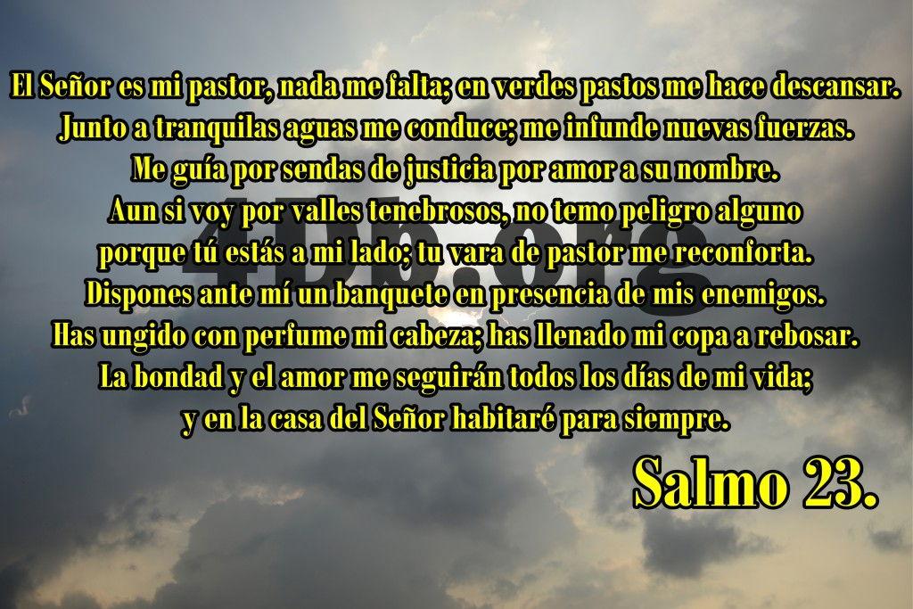 Salmo 23 Confortara mi alma  Frases de amor Dios Es