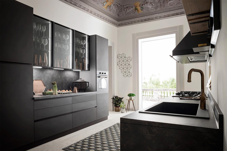 Rendendo meno evidente il passaggio tra i due ambienti. Cucina Lineare Su Due Pareti Five 01 Diotti Com