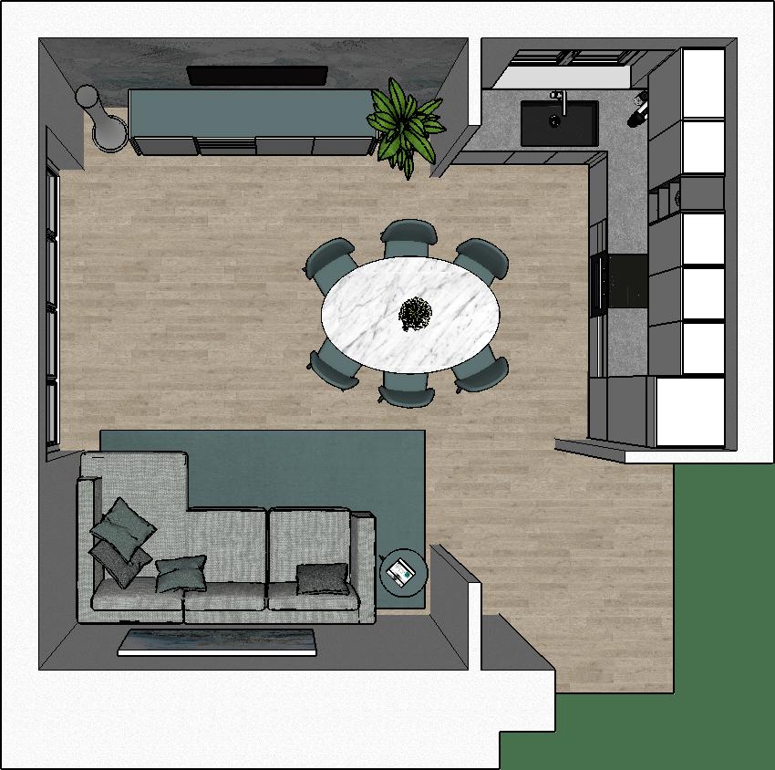Soluzione con cappa sospesa a isola. How To Design An Open Plan Kitchen Diotti Com