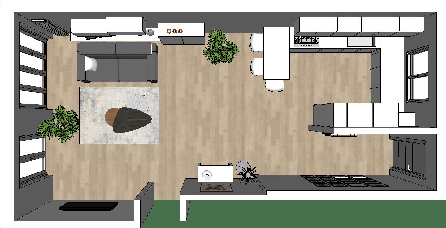 Disimpegno, due camere da letto, bagno e balcone al piano Come Arredare Una Cucina Open Space Guide Diotti Com