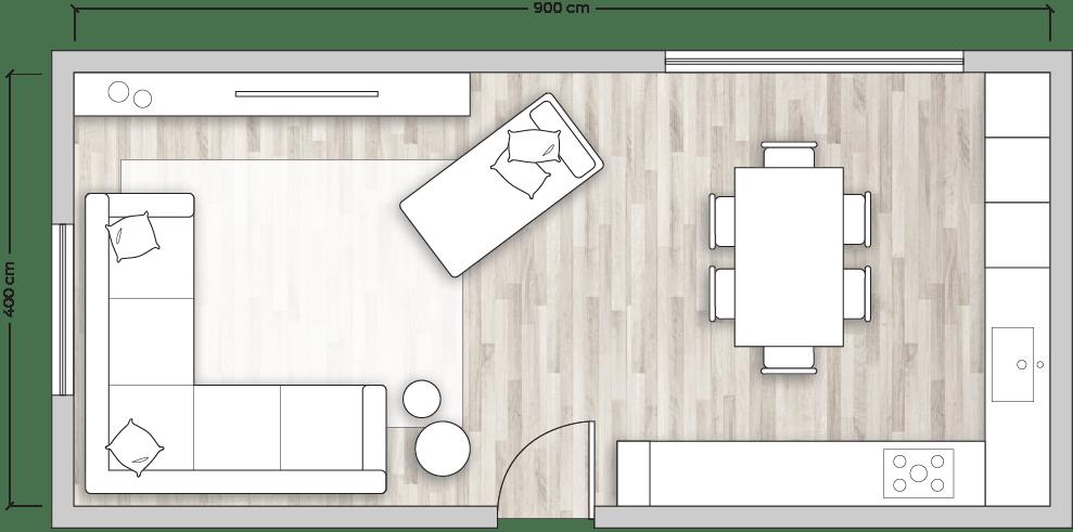 Progettazione interni open space con faretti diviso da muretto. Idee Cucina Open Space Non Perderti La Nuova Guida Diotti Com