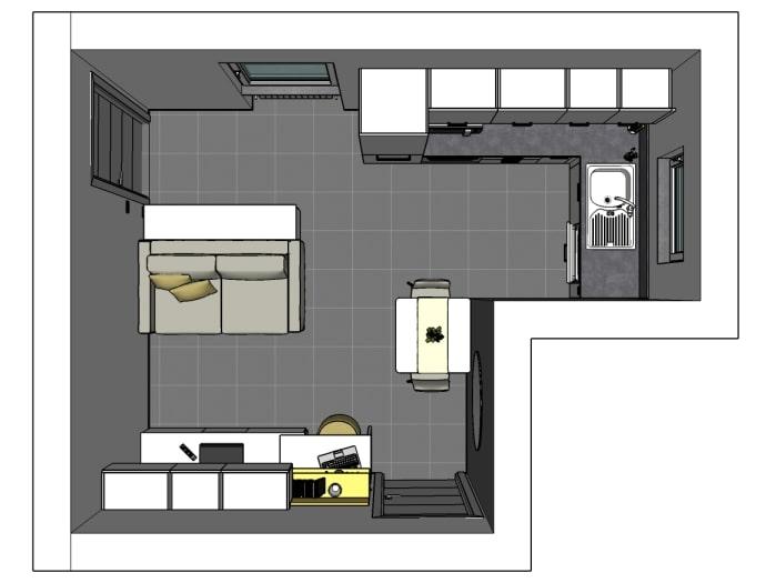 Il soggiorno gode invece dello spazio a tutta altezza. Idee I Nostri Progetti Arredare Cucina E Soggiorno In 16 Mq Diotti Com