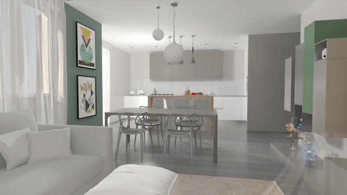 cucina a vista 35 idee e soluzioni per arredare. Idee Progetto Open Space Di 35 Mq Con Cucina A Vista Diotti Com