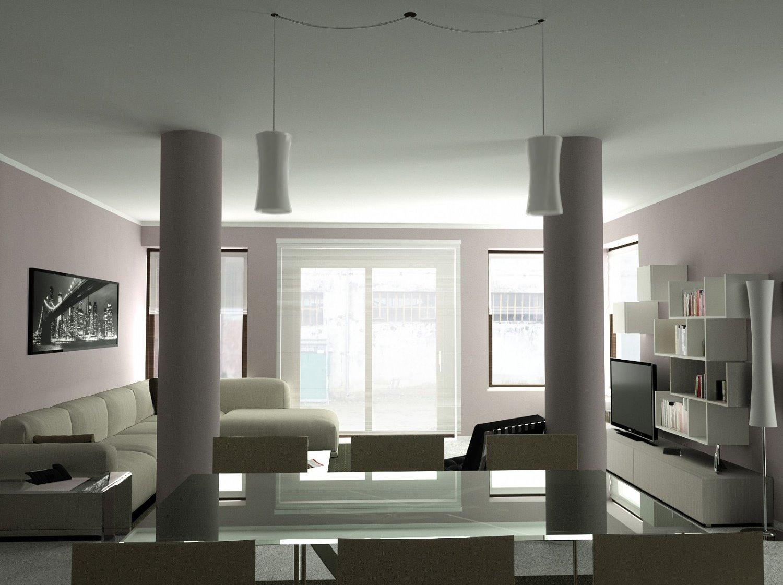 Idee  Come arredare un soggiorno con colonne e pilastri