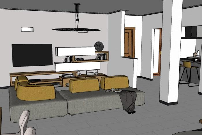 Arredare open space 50 mq isola ampio tavolo e soggiorno. Idee I Nostri Progetti Ri Arredare Un Living Con Cucina In 50 Mq Diotti Com