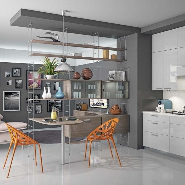 Come dividere la cucina dal soggiorno: Idee Dividere Due Ambienti La Soluzione Le Librerie Diotti Com