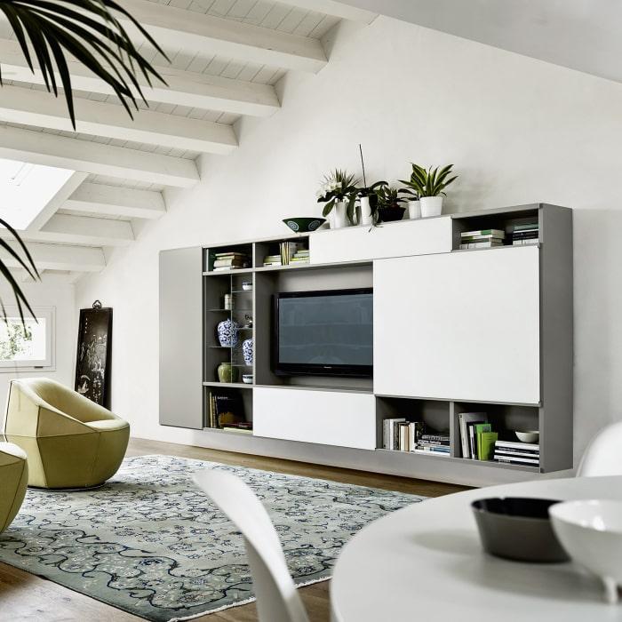 Scopri una delle più vaste selezioni di pareti attrezzate moderne e mobili per soggiorno dal design innovativo ed originale, in grado di dare un tocco di esclusività all'arredo della tua casa. Idee 73 Idee Per Arredare Le Pareti Del Soggiorno Diotti Com