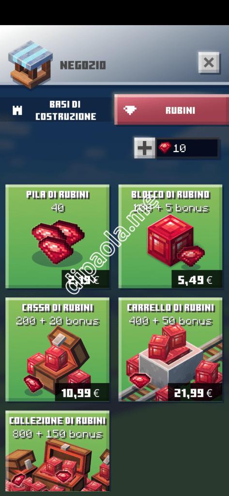 minecraft earth rubys