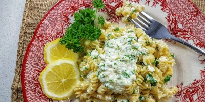 Ricotta-rotini- lemon-parsley