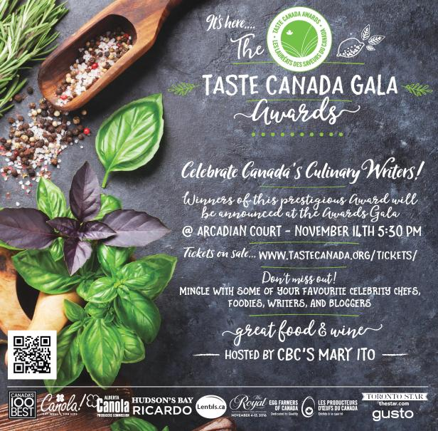 Taste Canada Celebrates Culinary Writers