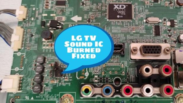 LED TV No Audio Issue