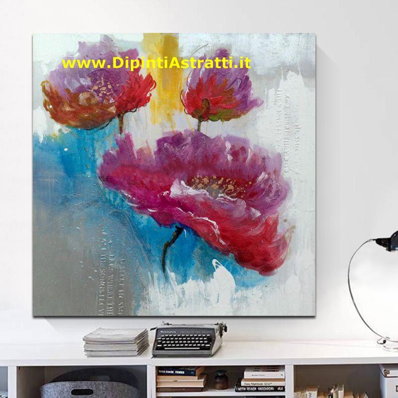 Dipinto Moderno Con Fiori Colorati Dipintiastratti