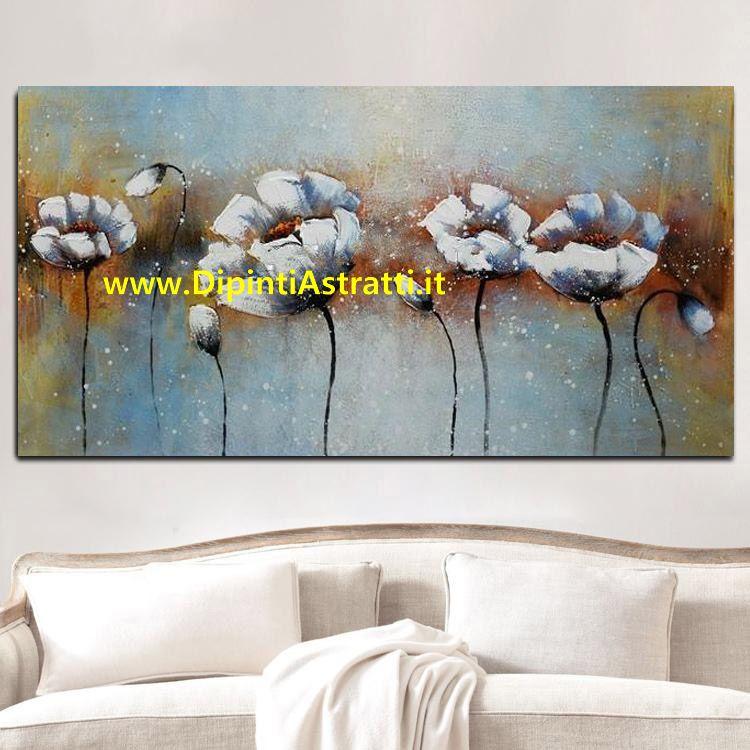 Quadro moderno fiori bianchi astratti dipintiastratti for Quadri moderni astratti dipinti mano