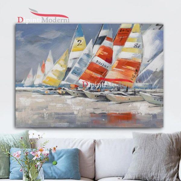 Quadri con regata barche a vela