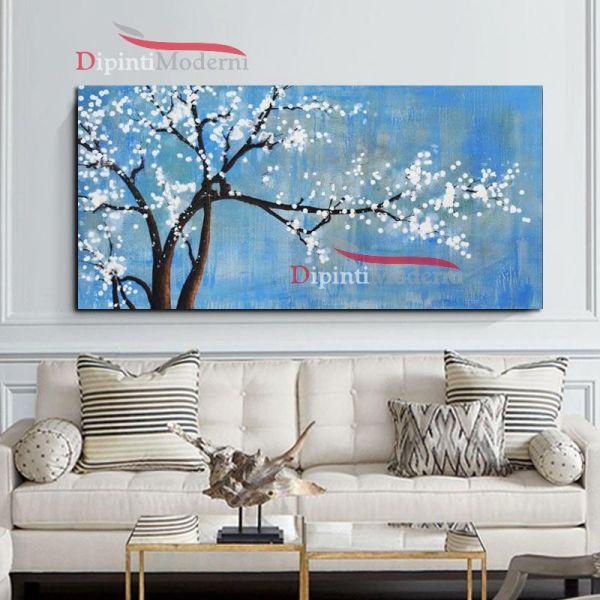 Quadro con ramo di ciliegio in fiore