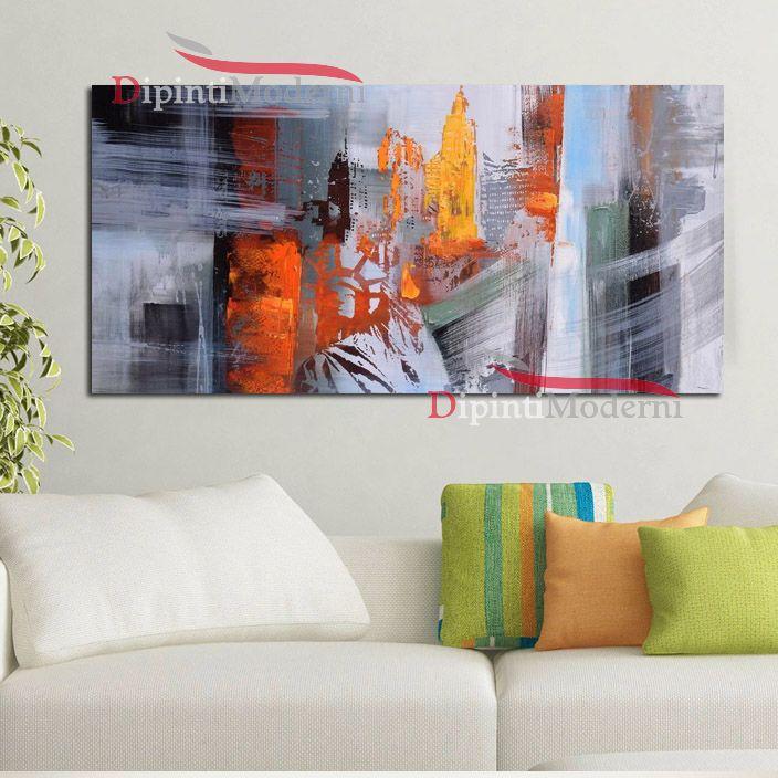 Quadro su tela astratto soggiorno colorato Dipinti Moderni