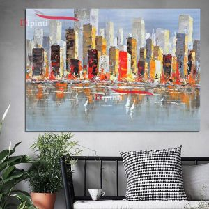quadri moderni metropoli america grattacieli