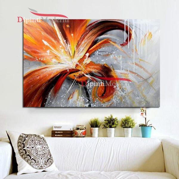 quadro con grande fiore arancione