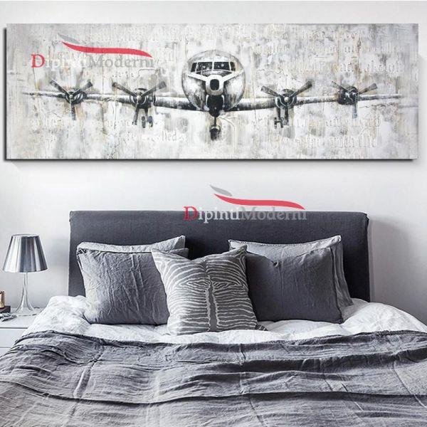 Dipinti moderni aereo quattro eliche