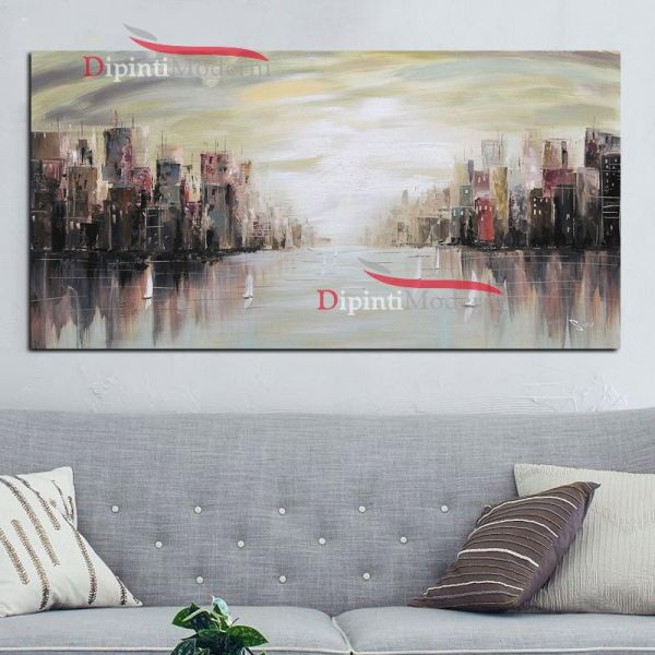 Dipinti su tela palazzi grattacieli New York