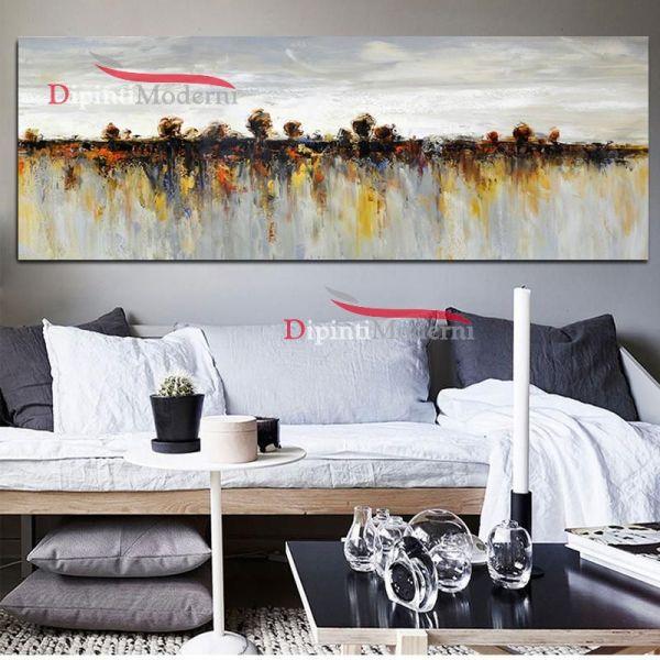 Dipinto su tela paesaggio riflesso