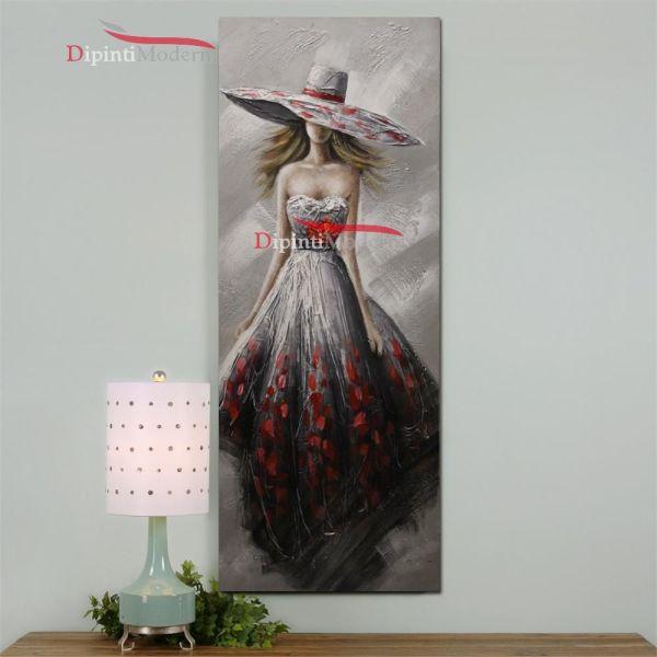 Quadri moderni verticali donna elegante cerimonia
