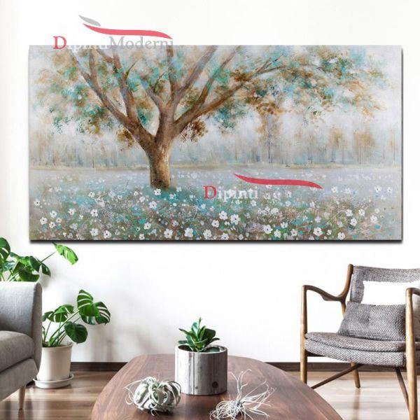 Quadri su tela paesaggio con albero rilassante