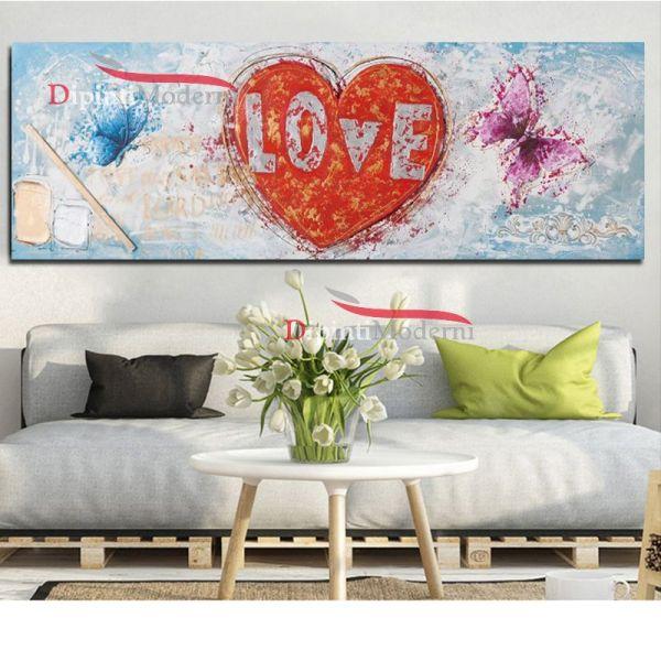 Quadro moderno cuore love amore