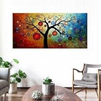 Dipinto albero della vita colorato klimt