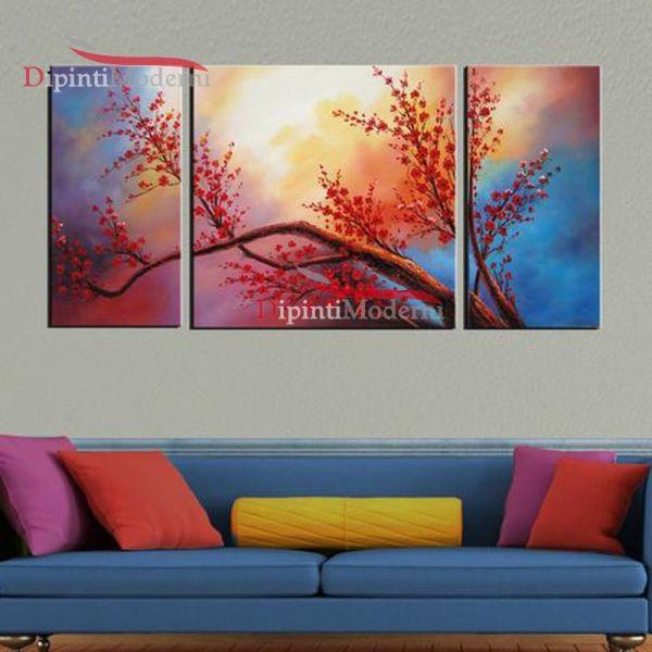 Dipinto su tela ramo fiorito colori sfumati