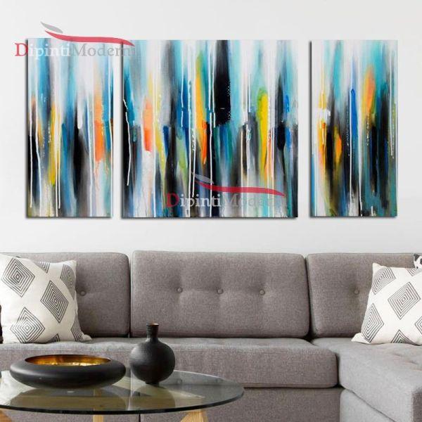 Tele moderne dipinti a mano astratti