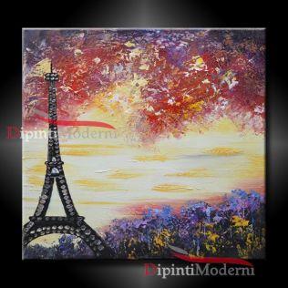 dipinti con tour eiffel