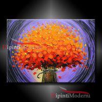 dipinto bouquet fiori arancioni
