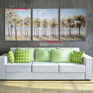 Dipinto olio su tela filare di alberi