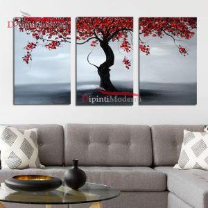 Quadri albero della vita rosso moderni