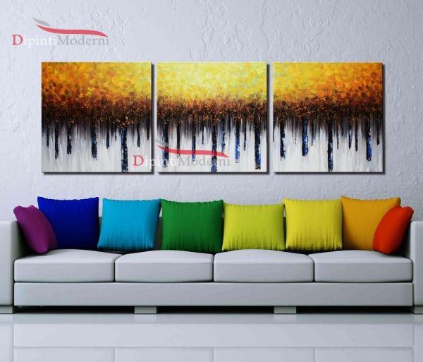 Quadri casa moderni foresta autunno toni caldi olio su tela