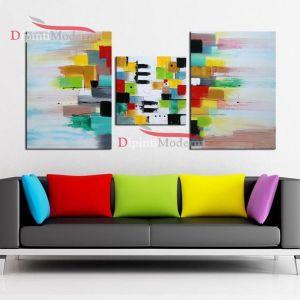 Dipinti moderni colorati salotto soggiorno