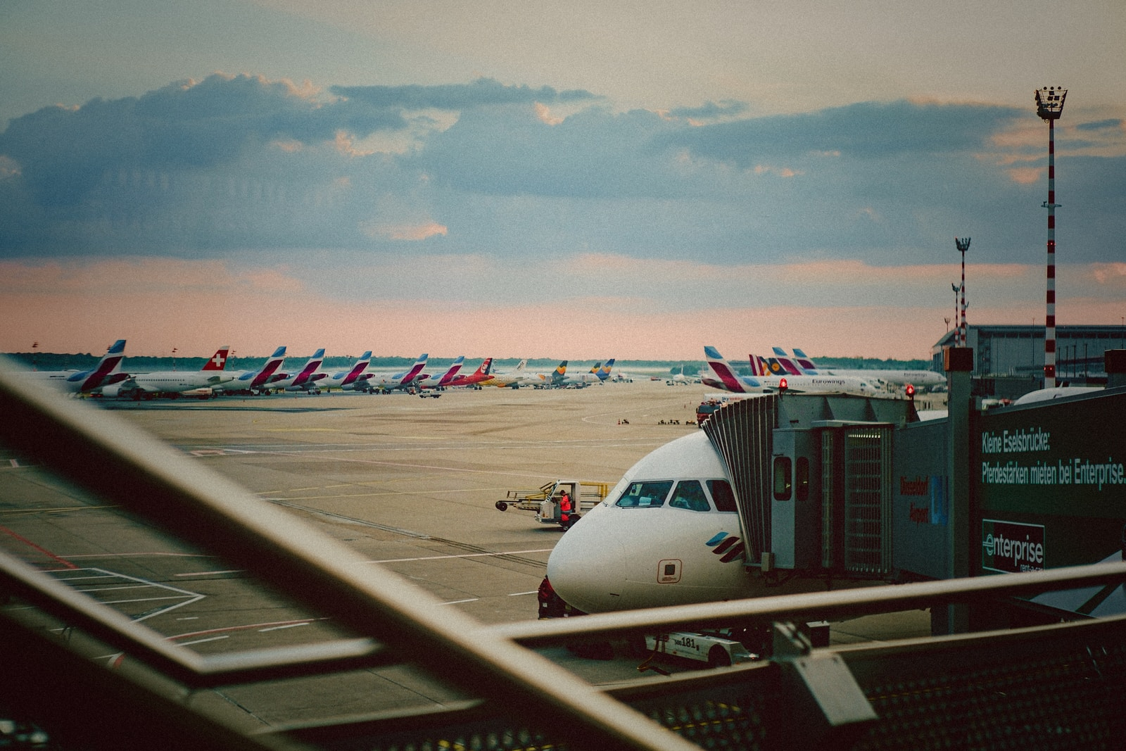 airliners at the airport during day