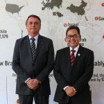 Presidente Bolsonaro e Embaixador Edi Yusup, da Indonésia
