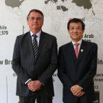 Presidente Bolsonaro e embaixdor Datuk Lim Juay Jin, da Malásia