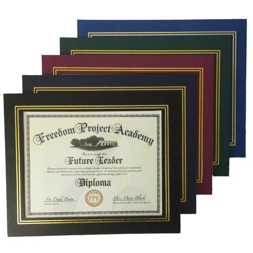 custom leatherette certificate frame