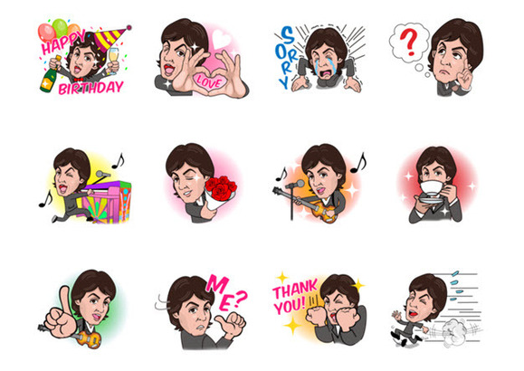 Stickers de Paul McCartney sur Line