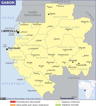 Map of Gabon (Source » France)