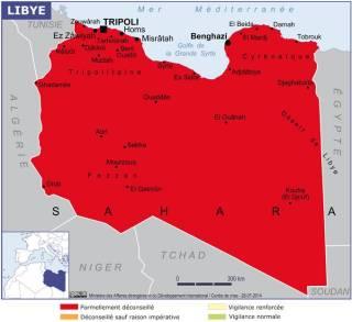Map of Libya (Source » France, June 2021)