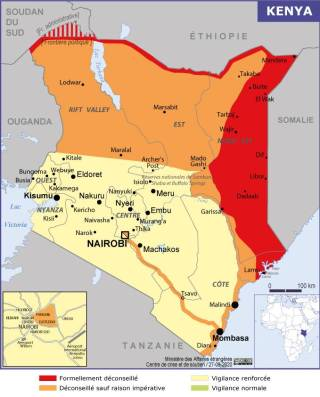 Map of Kenya (Source » France)