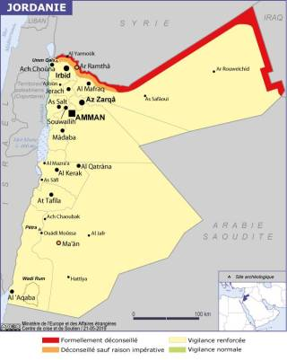 Map of Jordan (Source » France, 2021)