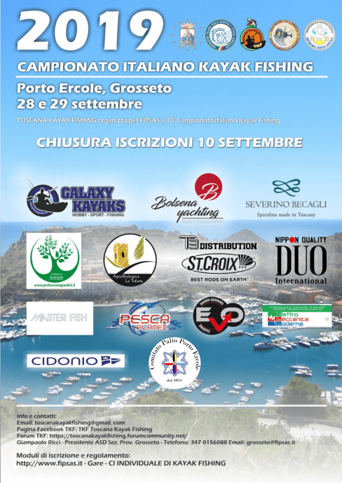 Campionato Italiano Kayak Fishing 2019