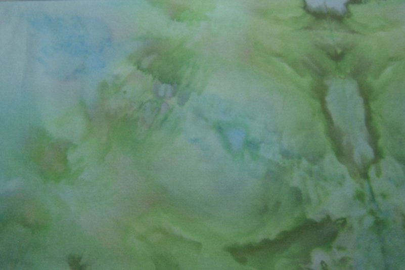 Green olive and blue snowdye