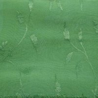 Medium green solid hand-dyed rayon jacquard
