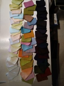 Solid swatch samples